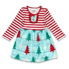Red & White Striped Holiday Tree Toddler Dress BE LOVE kids