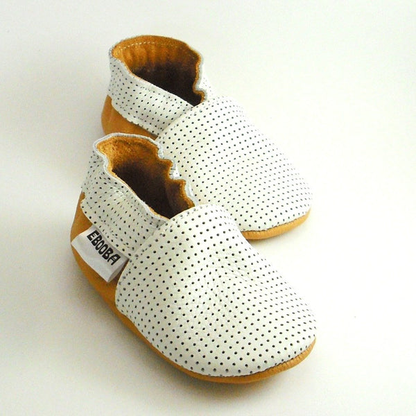 BE LOVE kids white leather baby shoes