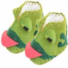 Zooties baby booties green frogs