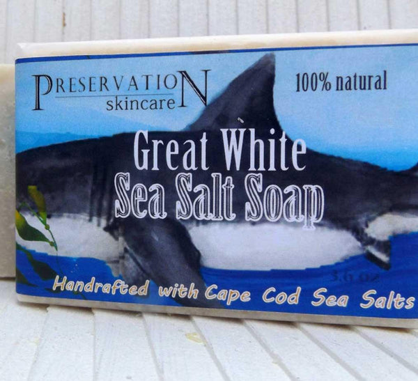 "Sea Salt and Shea Butter Soap Bar, ""The Great White Soap"""