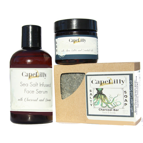Clear Skin, Acne kit with activated Charcoal