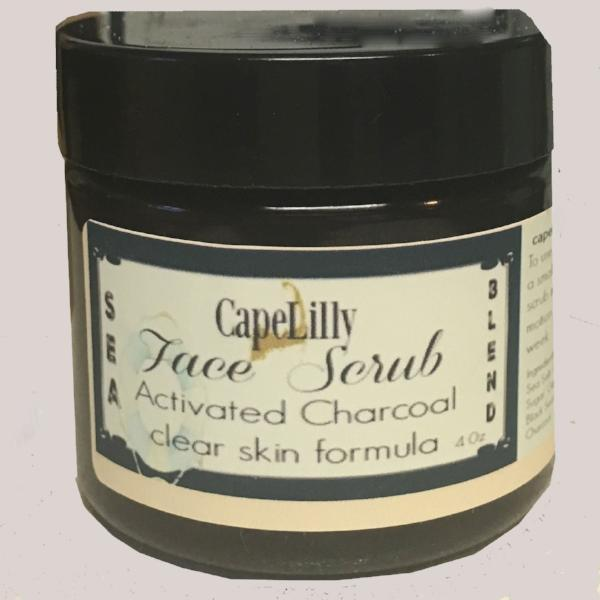 Instant change face scrub with charcoal and hibiscus
