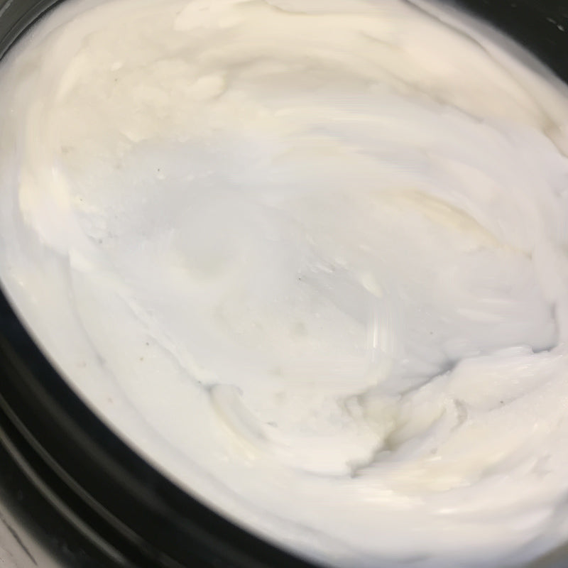 Whipped Shea butter  infused with Thyme, Neem oil and sea salt.