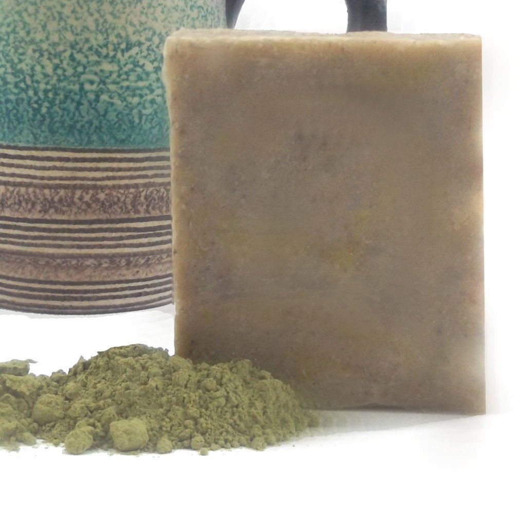 Natural Matcha Green Tea Shea Butter Soap , Soaps - Salty Soaps, Salty Soaps - 1