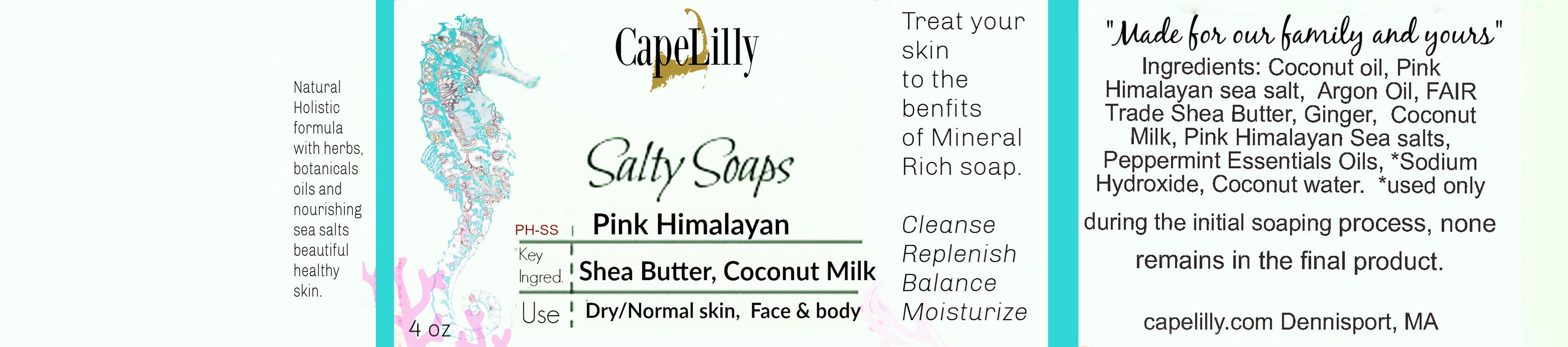 Pink Himalayan sole soap, 100% natural
