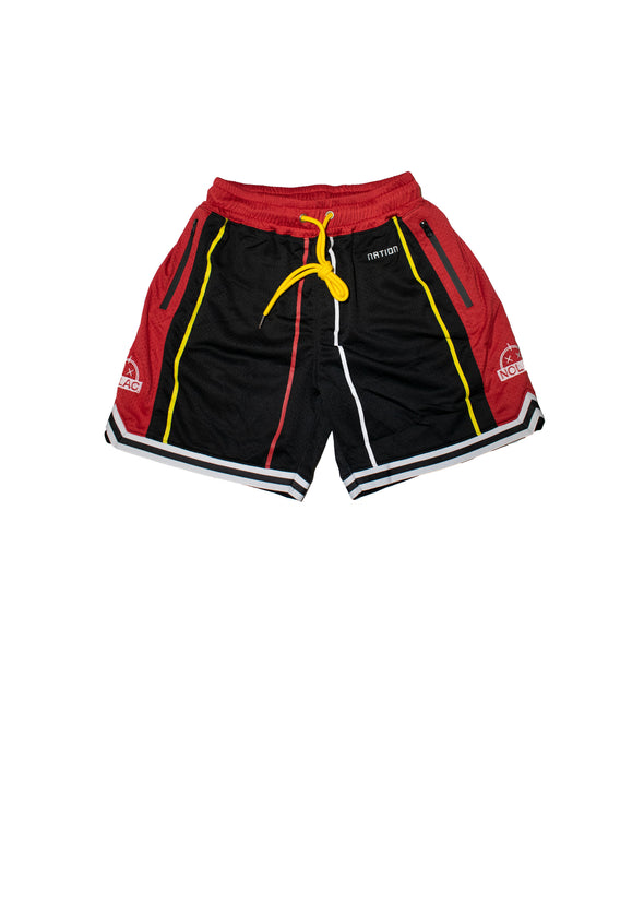 Sunrise Hoop Shorts (Black/Red)