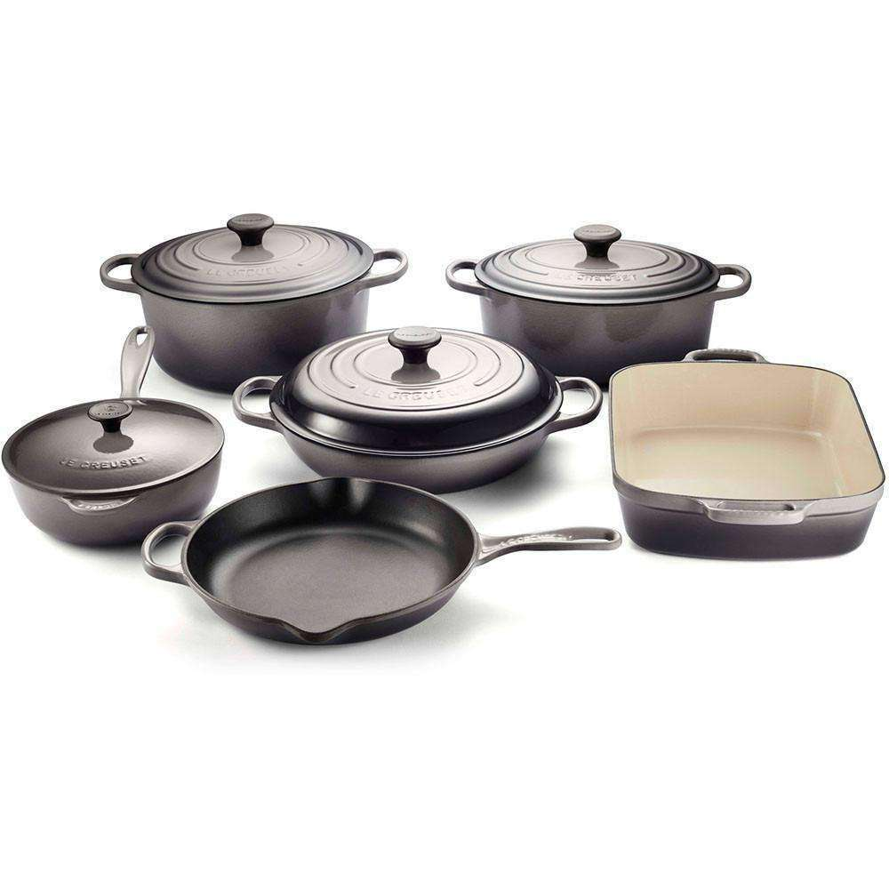 Le Creuset Signature Cast Iron Cookware Set - 10 Piece - Kitchen Smart