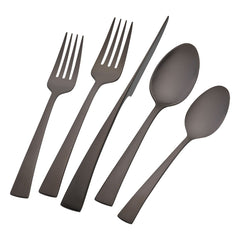 Zwilling Henckels Bellasera 20 Piece Flatware Set - Polished Black - Kitchen Smart