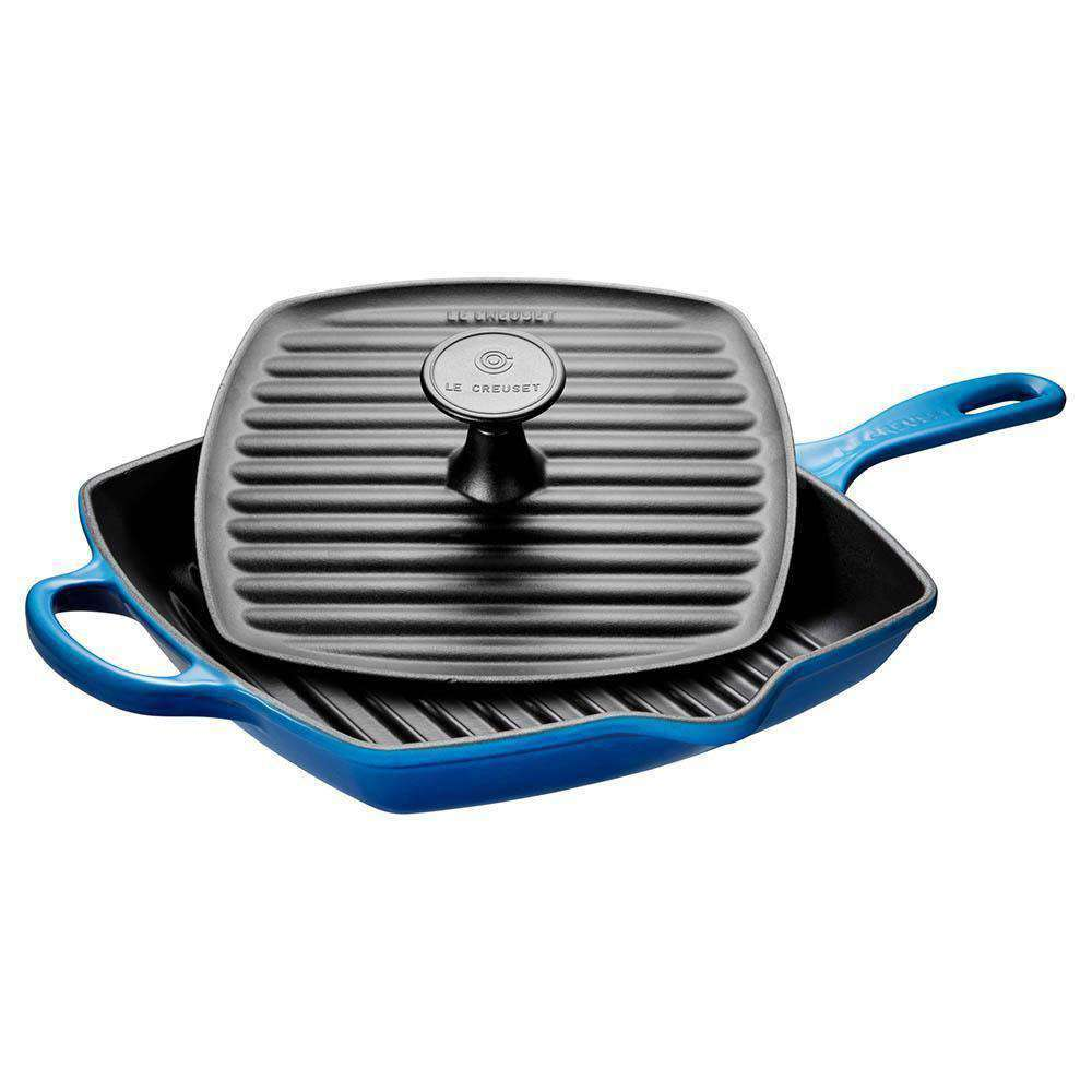 Le Creuset Cast Iron Skillet Grill and Panini Set - Kitchen Smart