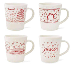 Royal Doulton Ellen DeGeneres Holiday Accent Mugs, Set of 4 - Kitchen Smart