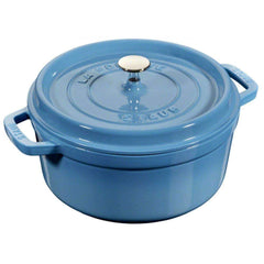 Staub Cast Iron 5.5 Qt (5.2 L) Ice Blue Round Cocotte - Kitchen Smart