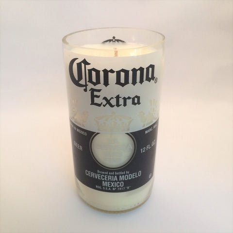 Soy Candle - Lavender - Reclaimed Bottle - Corona 8 Oz.