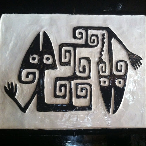 Wall Art - Low Relief - Black & White Rain Maker - Nothwestern - Argentina