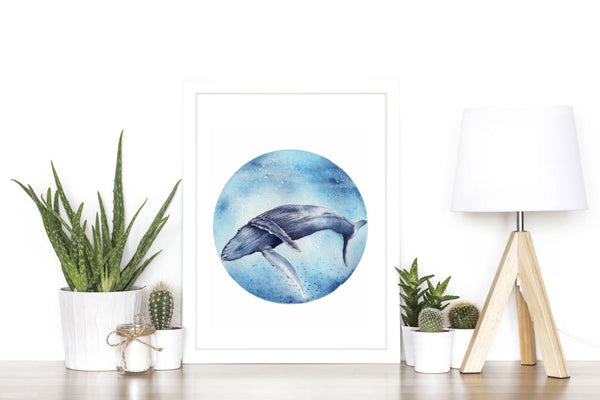 Humpback Whale Art Print No 2 - Artista Style