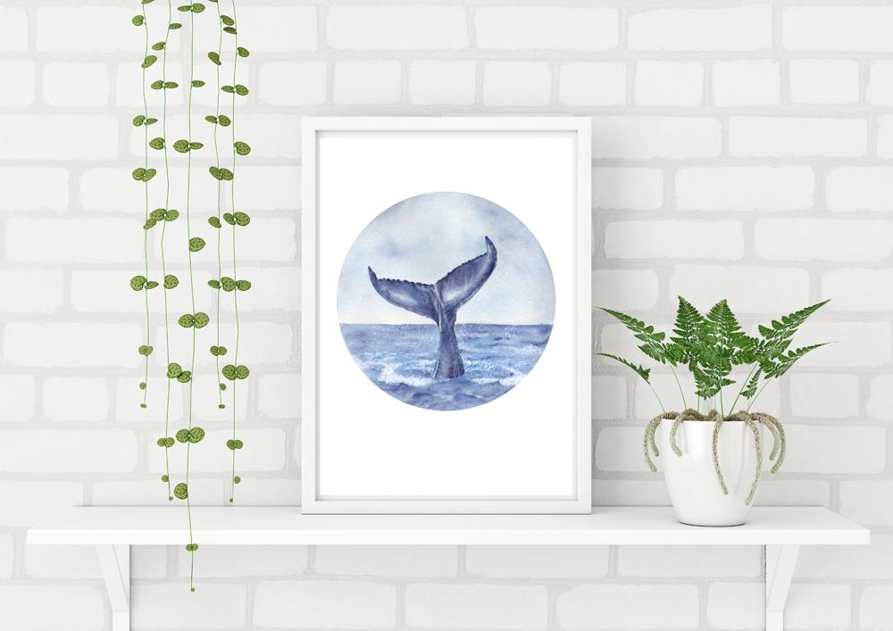 Whale Tail painting Art Print No 3 - Artista Style
