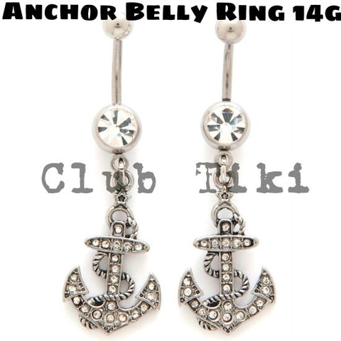 Anchor Belly Ring - Club Tiki