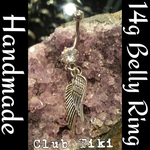 Belly Ring-Double Wing dangle - Club Tiki