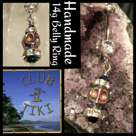 Rainbow Skull Belly Ring - Club Tiki