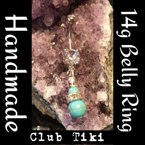 Belly Ring-Turquoise Love - Club Tiki
