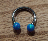 Blue Opal Internal Threaded Circular Barbell - Club Tiki  - 3