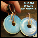 Opalite tunnel hangers/ Ear Weights - Club Tiki  - 1
