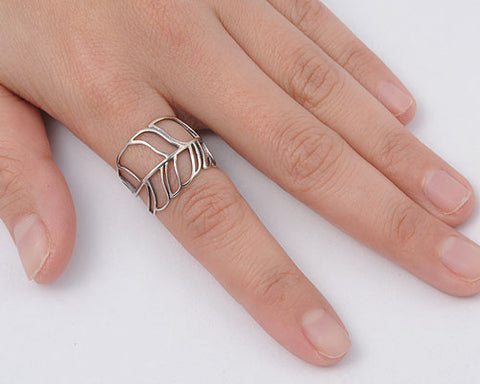 Feather Wrap Ring - Club Tiki  - 1