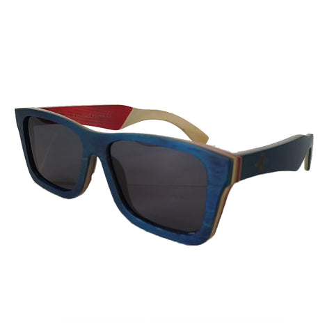 California Lifestyle Polarized Wooden Sunglasses