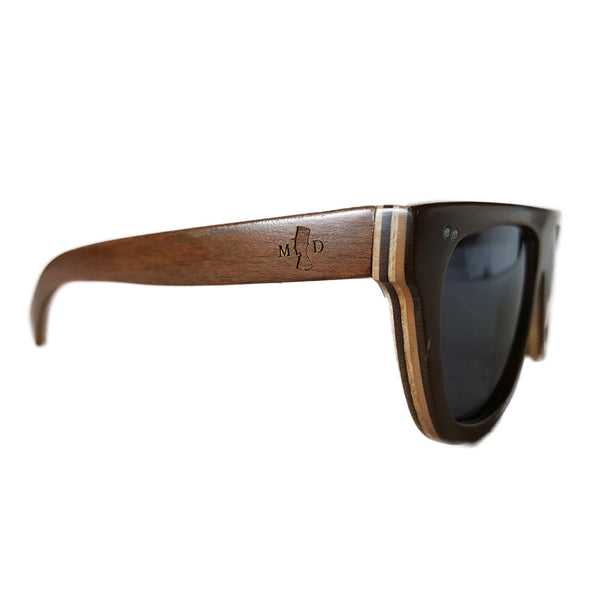 MD California Lifestyle Skateboard Wood Sunglasses
