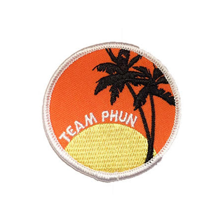 California Sunset Palm Trees Embroidered Patch - apparel