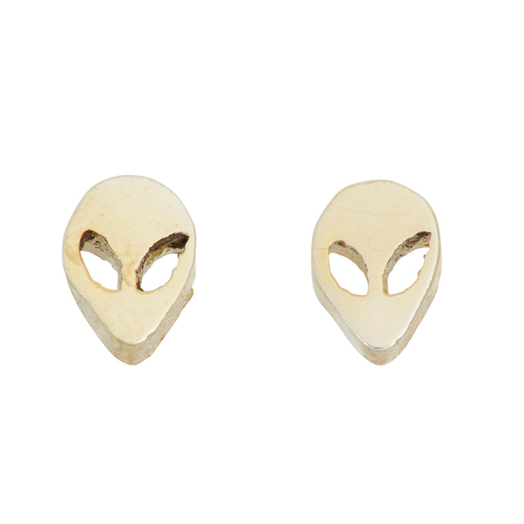 Alien Head Stud Earrings - SNASH JEWELRY