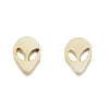 Alien Head Stud Earrings