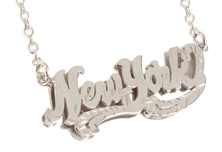 New York Nameplate Necklace - SNASH JEWELRY