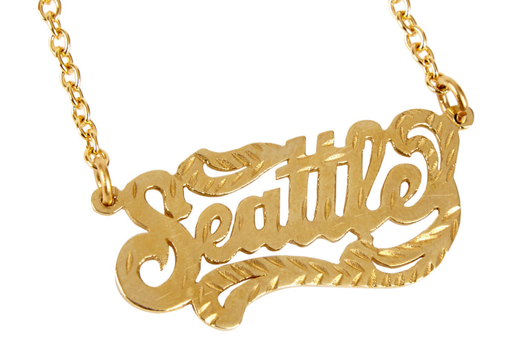 Seattle Nameplate Necklace - SNASH JEWELRY
