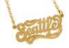 Seattle Nameplate Necklace