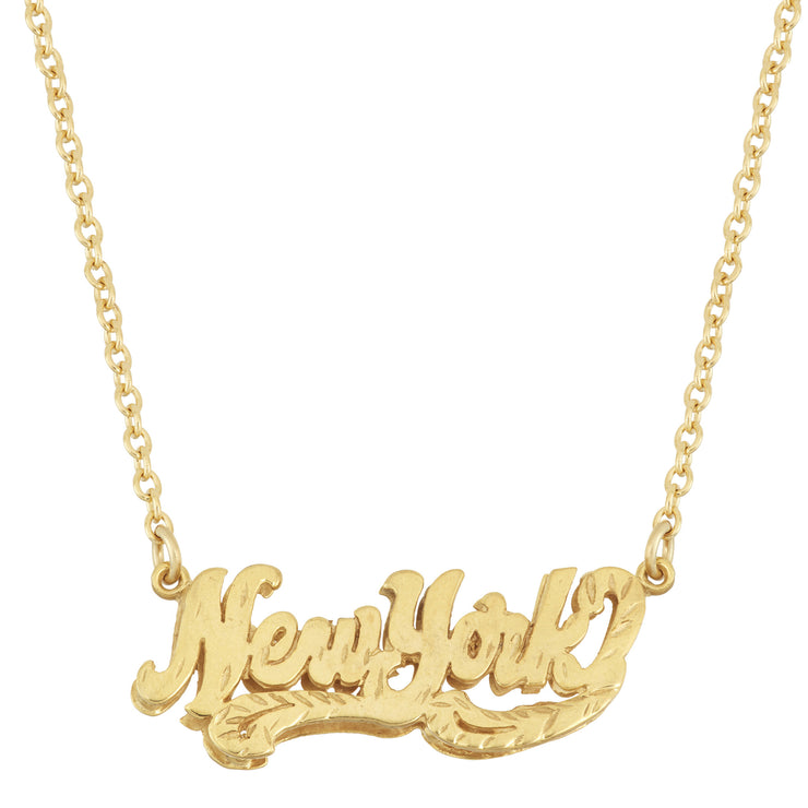 New York Nameplate Necklace