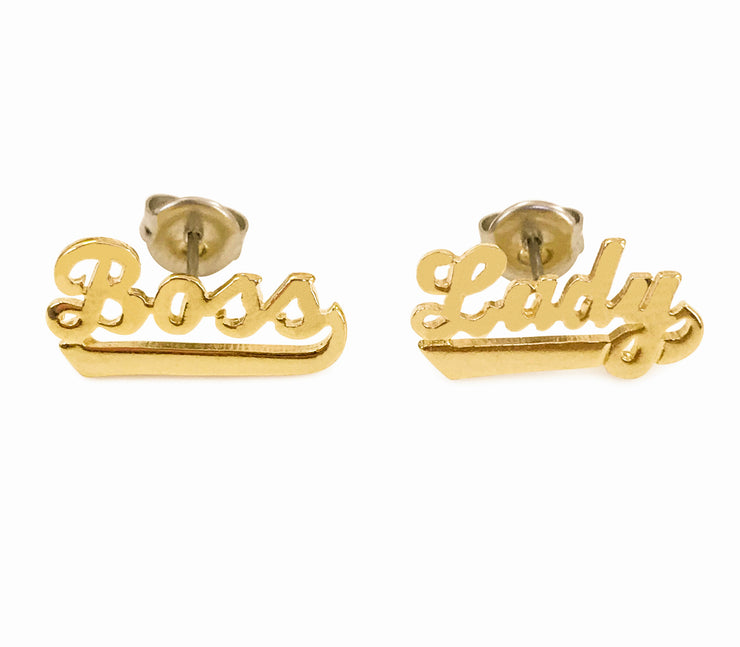 Boss Lady Deluxe Stud Earrings