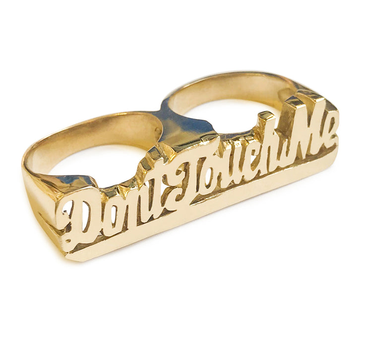 Don't Touch Me Double Finger Ring