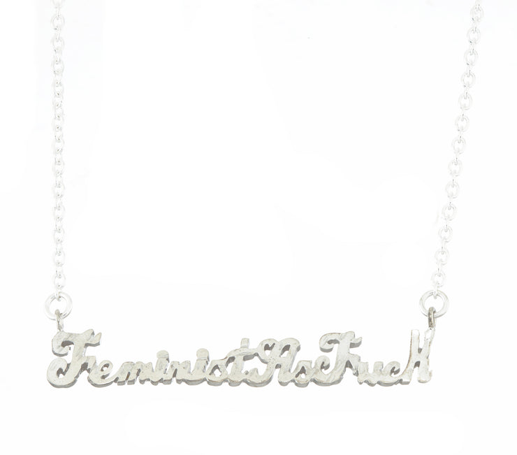 Feminist As Fuck Necklace - SNASH JEWELRY