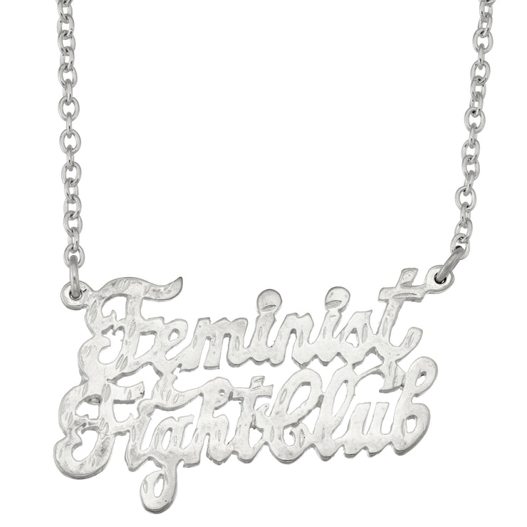 Feminist Fight Club Necklace - SNASH JEWELRY