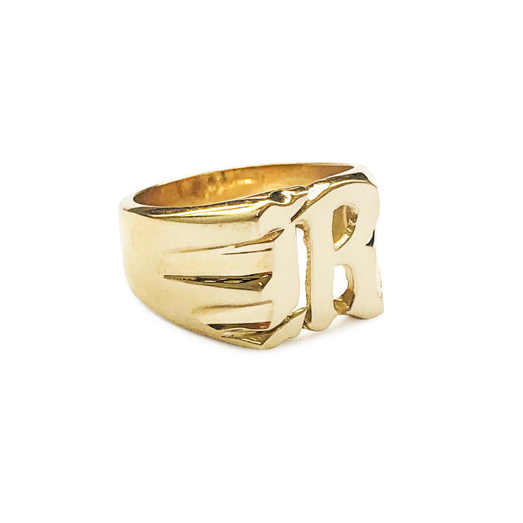 Gothic Initial / Letter Rings - SNASH JEWELRY