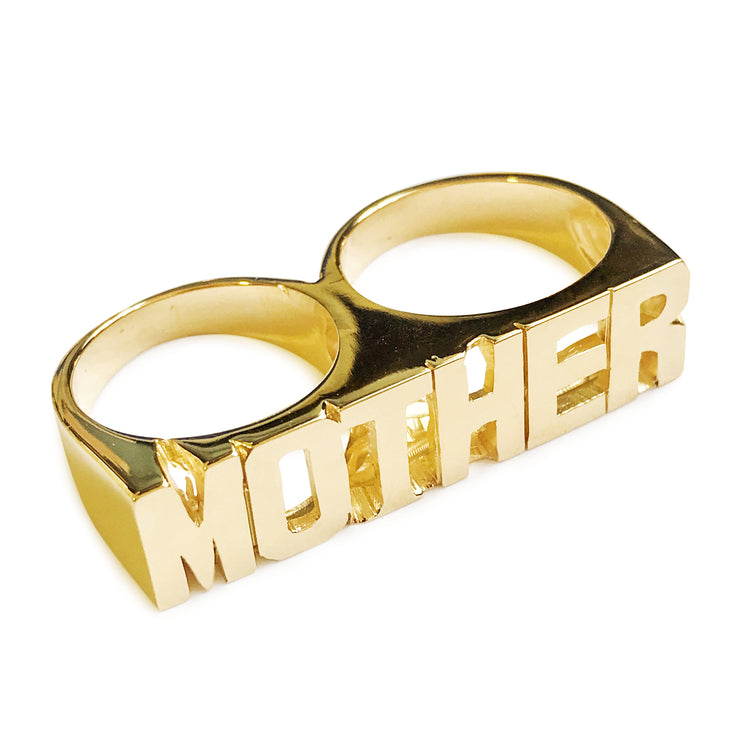 Mother Double Finger Ring - SNASH JEWELRY