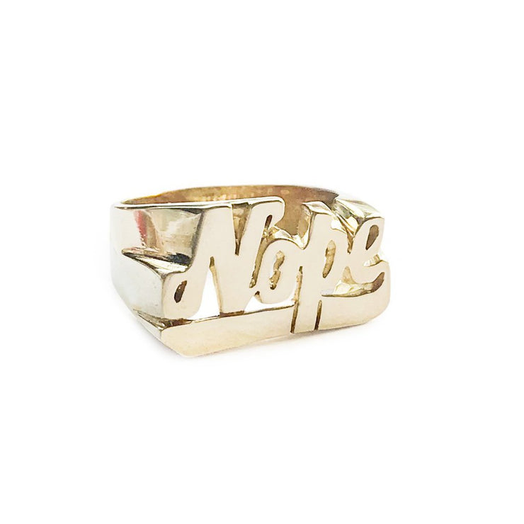 Nope Ring - SNASH JEWELRY