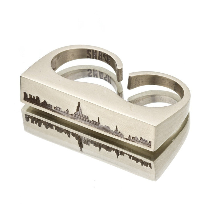 New York Double Finger Skyline Ring - SNASH JEWELRY