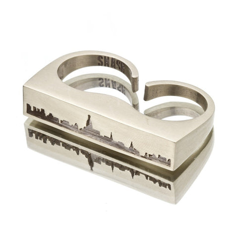 New York Double Finger Ring