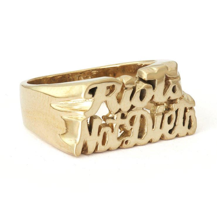 Riots Not Diets Ring - SNASH JEWELRY