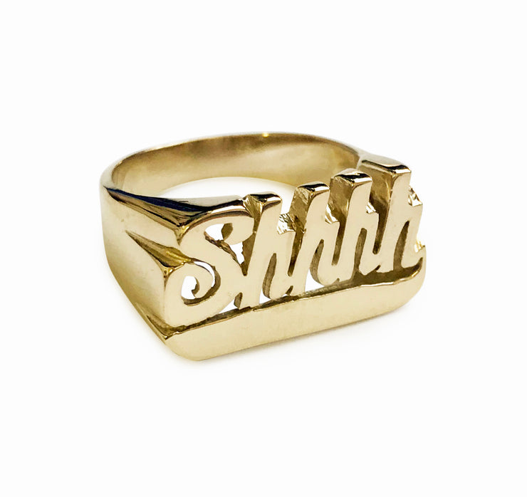 Shhhh Ring - SNASH JEWELRY