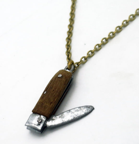 Wooden Knife Necklace