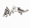 Stegosaurus Halfsies Stud Earrings
