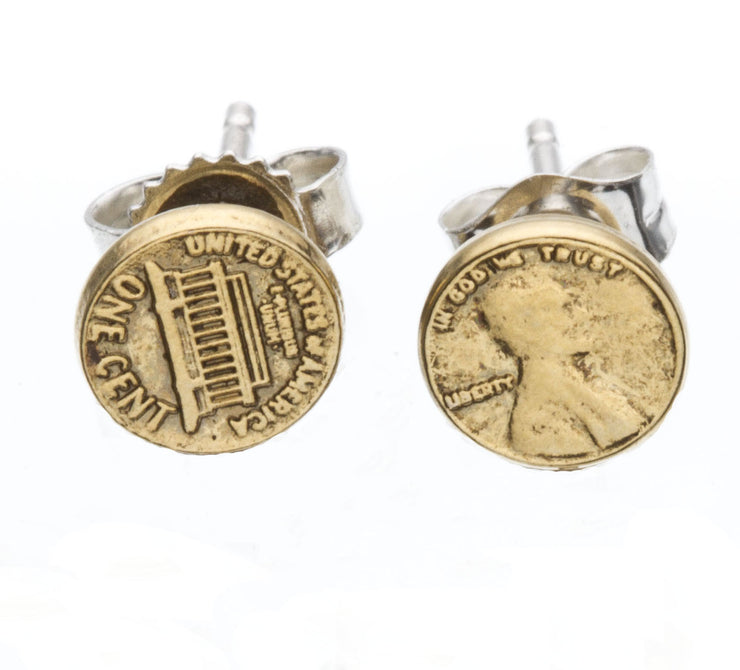 Lucky Penny Stud Earrings - SNASH JEWELRY