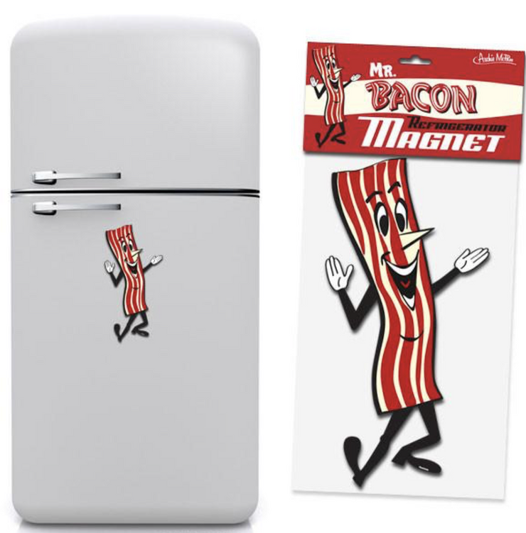 Mr. Bacon Jumbo Magnet - SNASH JEWELRY